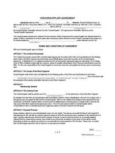 Supplier Agreement Contract Template supply contract template 2 free templates in pdf word excel