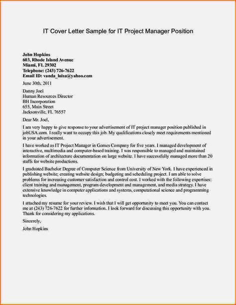 cover letter exles for manager position resume