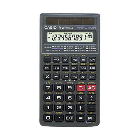 home solar calculator casio fx 260 solar scientific calculator by office depot officemax