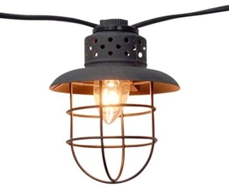 Target Lighting Fixtures Smith Hawken Metal Cage String Lights Contemporary Outdoor Lighting By Target