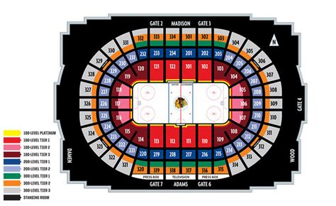 united center seating map seating charts united center
