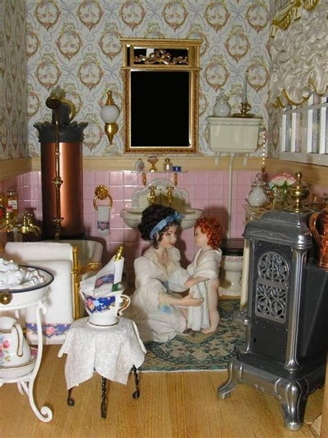 miniature dollhouse bathrooms an old fashioned bathroom dollhouse miniature rooms and