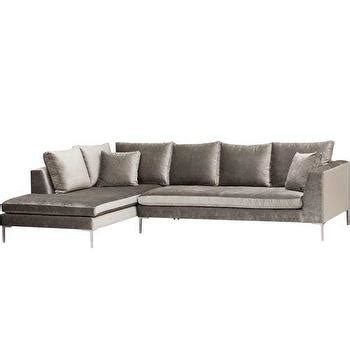 wyatt sectional sofa charcoal gray wyatt sectional sofa