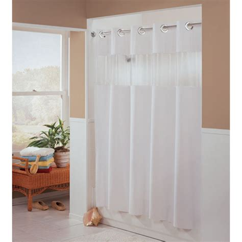 hookless fabric shower curtain white in shower curtains