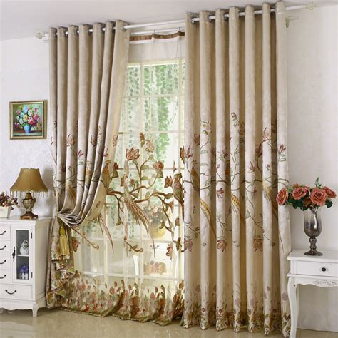 new arrival rustic window curtains for living room