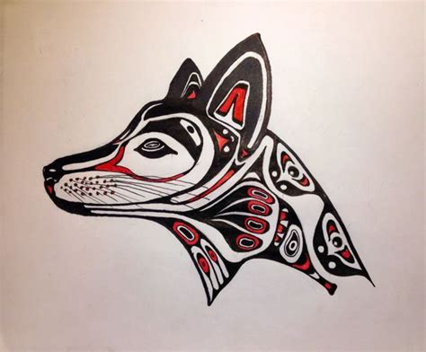 pin haida art wolf on pinterest