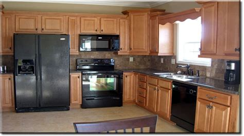 black oak kitchen cabinets kitchens with black appliances kitchen black appliances