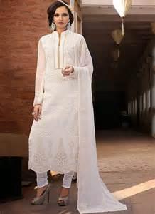 titanic off white cotton designer churidar suit
