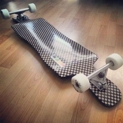 Handmade Longboard Skateboards - handmade checkered fabric bottom longboard skateboard with