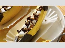 Grilled Banana Boats recipe from Pillsbury.com How To Cut A Pineapple Boat