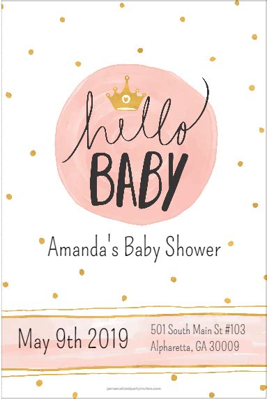 baby baby shower invitation personalized party invites