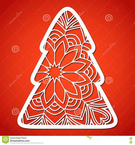 plantilla árbol de navidad para imprimir 193 rbol de navidad a cielo abierto plantilla de corte laser ilustraci 243 n vector imagen