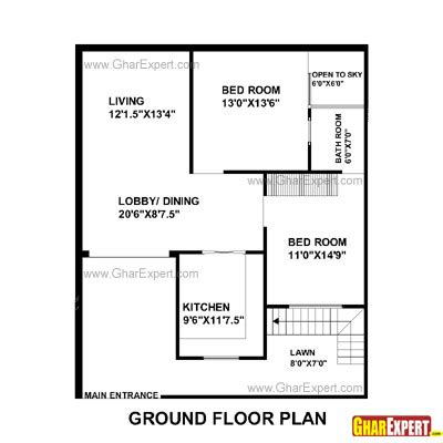 100 Sq Meters House Design house plan for 33 feet by 40 feet plot plot size 147