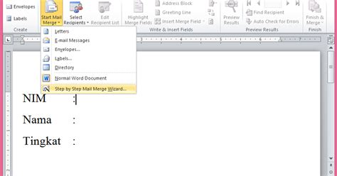 tujuan membuat mail merge sofia rizki cara membuat mail merge di ms word 2010 dan