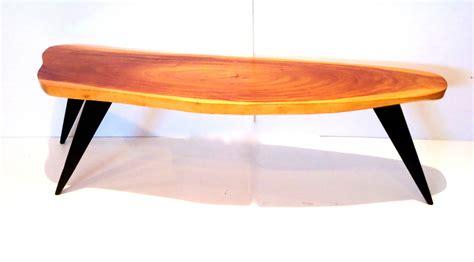 1950s american modern freeform coffee table hawaiian koa