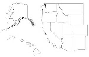 blank map west region united states