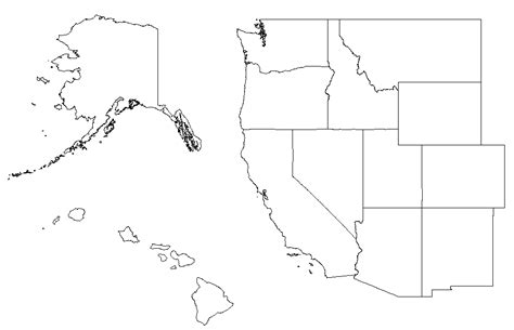 Outline Map Of Usa Regions by Blank Map West Region United States