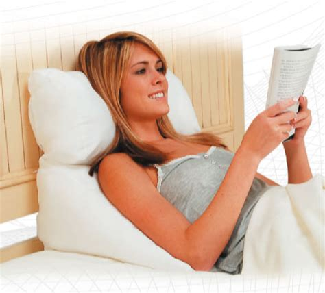 pillow in bed reading pillow bed wedge