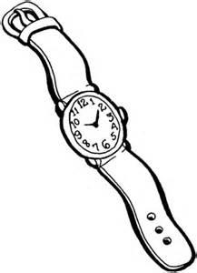 ausmalbild herren armbanduhr kostenlos zum