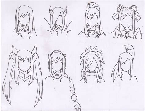 Fairytale Hairstyles by The Many Hairstyles Of Erza Scarlet By Purple Dragon57 On