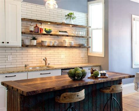 kitchen island with open shelves open shelves kitchen design ideas shelving style pictures