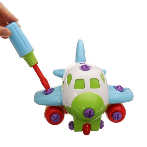 Diy Children Toys Child Disassembly And Assembly Airplane buy diy assembly plastic airplane education toys with tool bazaargadgets