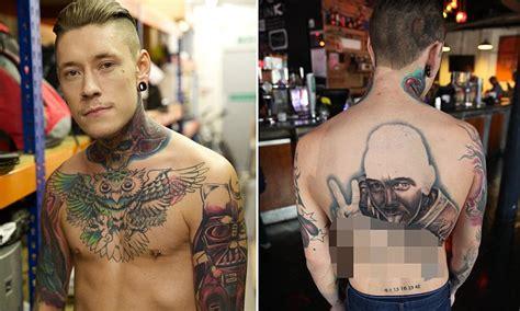 bodyshockers tattoo bodyshockers jack woodman has sexually explicit tattoo of