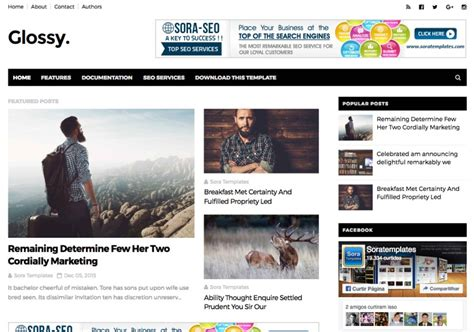 best blogger templates for adsense glossy blogger template blogspot templates 2018
