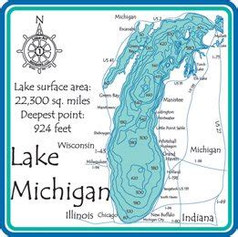 depth map lake michigan 3d laser carved depth map great gl 24 inch x 30 inch wall maps