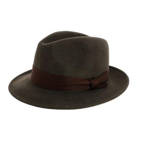 Nelson Fedora Brixton chapeau fedora nelson marron boutique brixton