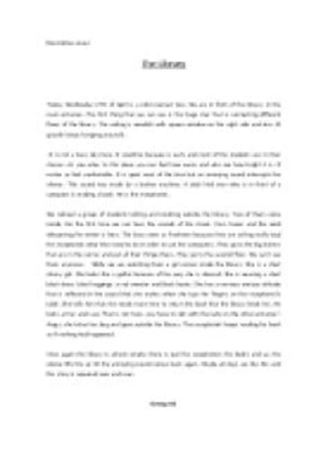 Essay About Library In Language by Descriptive Essay The Library Gcse Marked By Teachers