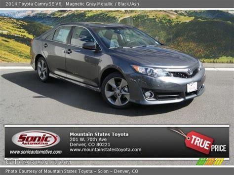 2014 Toyota Camry Se V6 Magnetic Gray Metallic 2014 Toyota Camry Se V6 Black