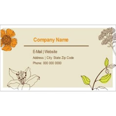 Templates Simple Garden Business Cards 10 Per Sheet Avery Avery 28877 Business Card Template Word