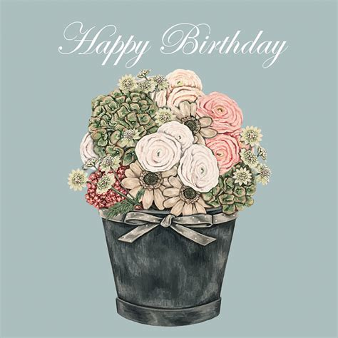 happy birthday flowers images gc53 happy birthday flowers sally swannell for wrendale