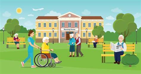 nursing home illustrations royalty  vector graphics