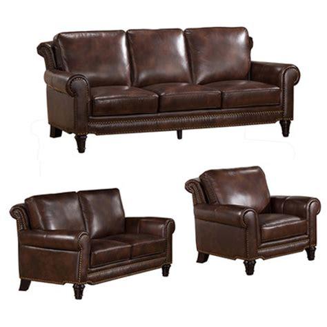 macys leather sofa and loveseat macy top grain leather sofa loveseat and chair set wayfair