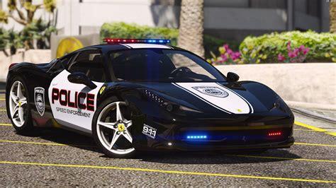 police ferrari enzo ferrari 458 italia pursuit police autovista add
