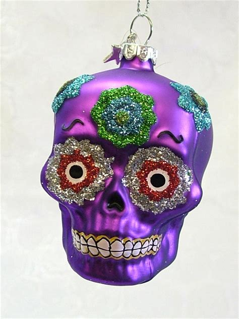 new glass traditional mexican skull day of the dead mexico