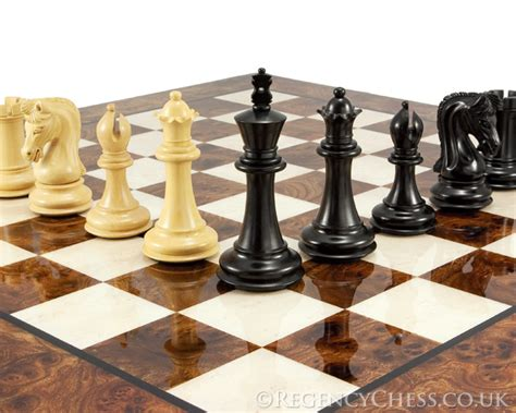 luxury chess set canterbury knight ebony luxury chess set rcpb110 163 431