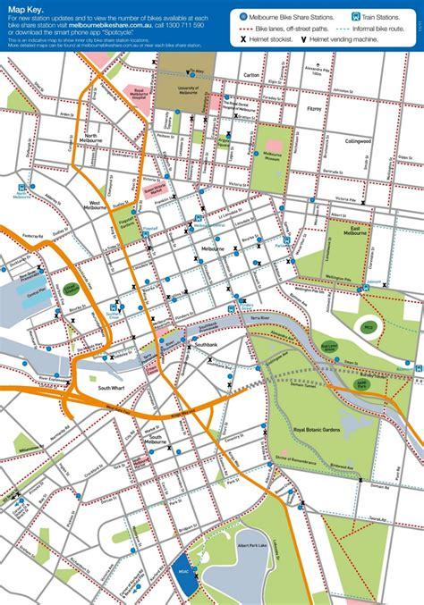 melbourne australia world map melbourne bike map