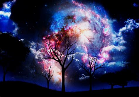 beautiful dark colors universe fantasy sky color colored image 463022 on