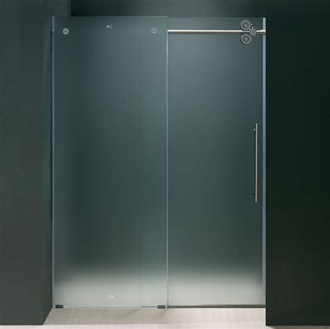 Glass Shower Door Frosted Glass Frameless Shower Doors Useful Reviews Of Shower Stalls Enclosure Bathtubs And