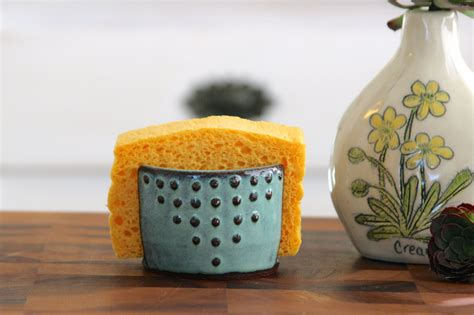 sponge holder for kitchen kitchen sponge holder ceramic card holder aqua mist