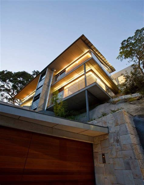 angled roof modern house design with angled roof and wavy ceiling