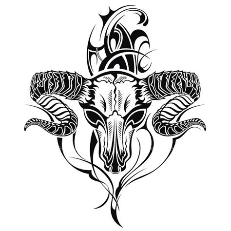 badass goat tattoo design