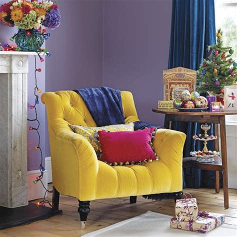 Living Room Purple Yellow Decorating With Contrasting Colours Living Rooms Purple