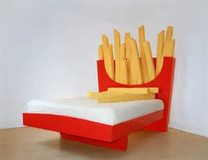 Bed Roll Mattress Unique Bed With Giant French Fries Headboard Supersize