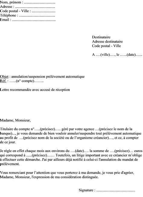 Mod Le Lettre De Procuration Signature Bail mod 232 le de lettre annuler ou suspendre un pr 233 l 232 vement