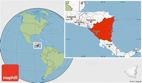 nicaragua location on world map savanna style location map of nicaragua highlighted continent