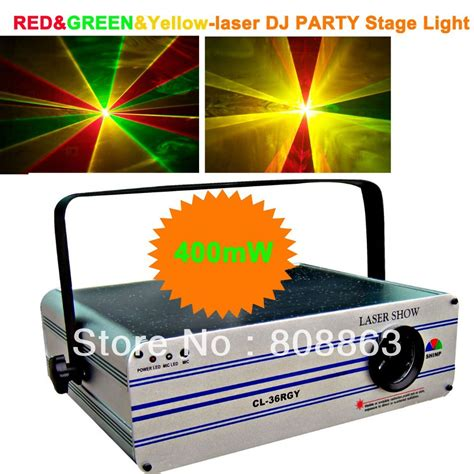 professional laser light show projector ht 400mw green red yellow laser projector party bar club